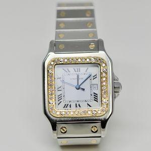 Santos De Cartier Watch Gold & Diamonds Bazel